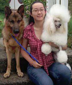 New Westminster dog groomer Athena Lu