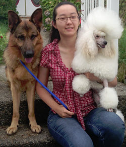 New Westminster dog groomer Athena Lu
